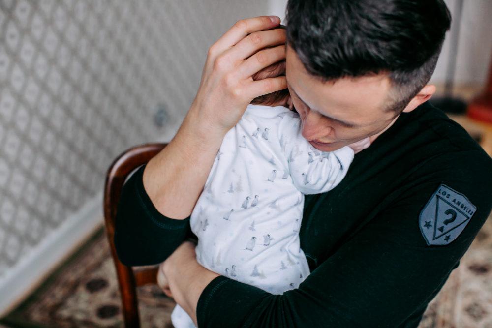 sesja noworodkowa z ojcem